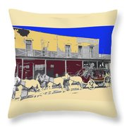 Last Stage To Tombstone Arizona Old Modoc 1903-2013 Throw Pillow
