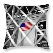 Last Stop Coney Island Throw Pillow