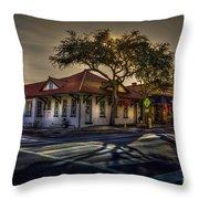 Last Stop Tarpon Springs Throw Pillow