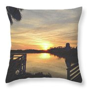 Last Sunset 2012 2 Throw Pillow