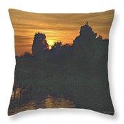 Last Sunset 2012 5 Throw Pillow