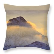 Last Sunset Light In The Clouds Throw Pillow