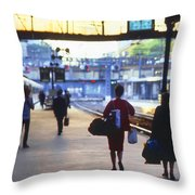 Last Train From Paris Throw Pillow