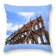 Last Wall Standing Throw Pillow