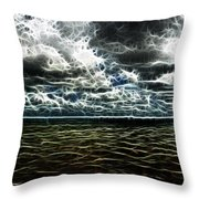 Last Winds Of Hurrican Issac  Throw Pillow