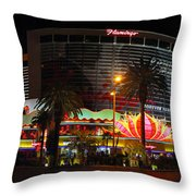 Las Vegas - The Flamingo Panoramic Throw Pillow