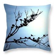 Lasy Birds Throw Pillow