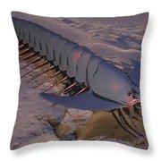 Latchworm Throw Pillow