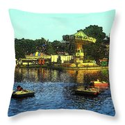 Late Afternoon At The Fair Throw Pillow