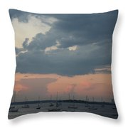 Late Afternoon Clouds Throw Pillow