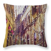 Late Afternoon In Florence Throw Pillow