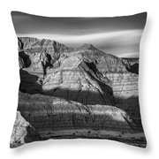 Late Afternoon In The Badlands Throw Pillow