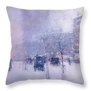 Late Afternoon - New York Winter Throw Pillow