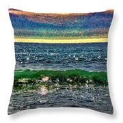 Late Afternoon Ocean Throw Pillow