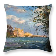 Late Afternoon On Goat Island Throw Pillow