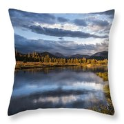 Late Afternoon On The Tuolumne River Throw Pillow