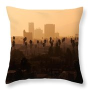 Late Afternoon Over Hollywood Throw Pillow