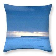 Late Afternoon Storm Antarctica Throw Pillow