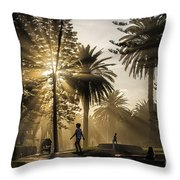Late Afternoon Sunbeams Throw Pillow