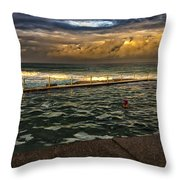 Late Afternoon Swimmer Throw Pillow