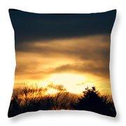 Late April Nebraska Sunset Throw Pillow