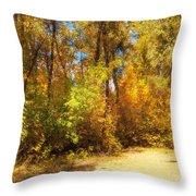 Late Autumn Colours Throw Pillow