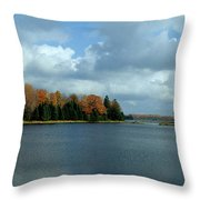Late Autumn Splendor Throw Pillow