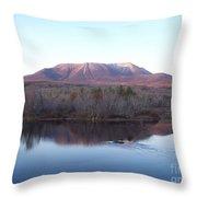 Late Fall At Abol Bridge Throw Pillow