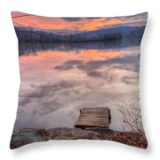Late Fall Early Winter Throw Pillow