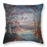 Late Fall Throw Pillow