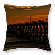 Late Fishing Throw Pillow