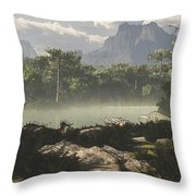 Late Jurassic East Africa With A Host Throw Pillow