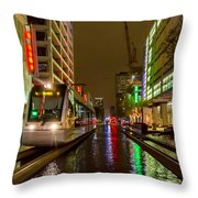 Late Night Ride On The Metrorail Throw Pillow