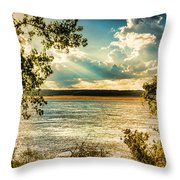 Late Summer Afternoon On The Mississippi Throw Pillow