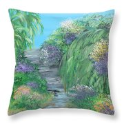 Late Summer On The White River Throw Pillow