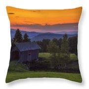 Late Summer Sunset Throw Pillow