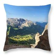 Latemar Mount From Vaiolon Pass Throw Pillow
