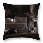 Latenight Cleaning Throw Pillow