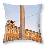 Lateran Obelisk In Rome Throw Pillow