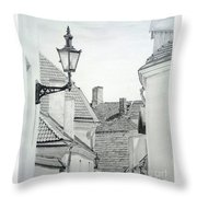 Latern Throw Pillow by Jackie Mestrom