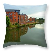 Latimer And Crick Building In Northampton Throw Pillow