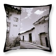 The Alleys Of Cuzco Throw Pillow