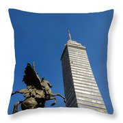 Latin American Tower And Statue Throw Pillow