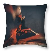 Latin Dancer Throw Pillow by Stelios Kleanthous