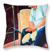 Latin Jazz Musician Throw Pillow
