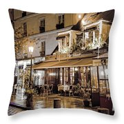 Latin Quarter In Copper Throw Pillow