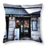 Latin St Jacques Paris France Throw Pillow