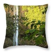 Latourell Falls I Throw Pillow