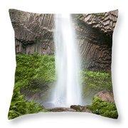 Latourell Falls II Throw Pillow
