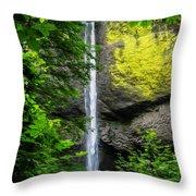 Latourelle Falls Throw Pillow